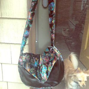 Handbags - Vintage Hippy Pattern with Satin bag